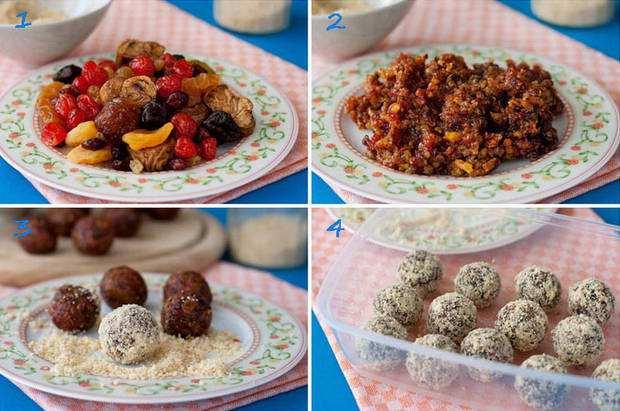 Домашние конфеты из сухофруктов. Приготовление