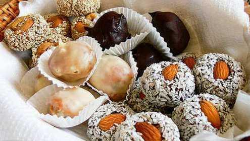 Рецепт конфет из сухофруктов с орехами