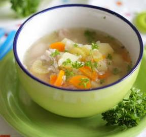 Диета 1 при язве желудка. Рисовый суп на бульоне