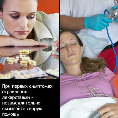 Первая помощь при отравлении лекарствами