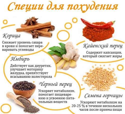 Специи и травы для похудкния