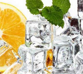 Лед с лимоном для лица