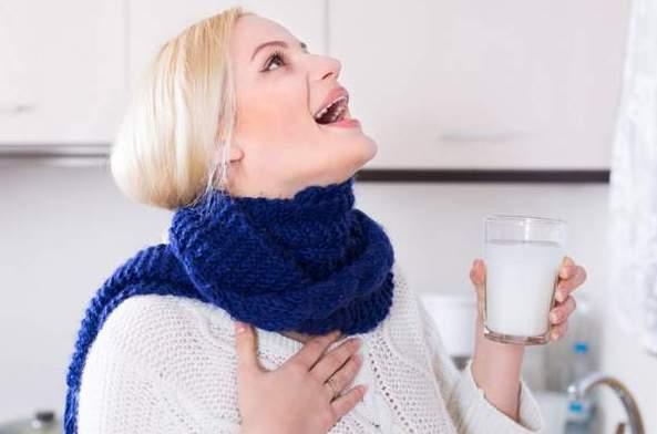 Полоскание от боли в горле