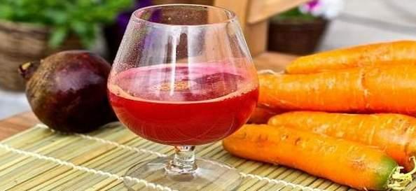 Морковный и свекольный соки для лечения горла