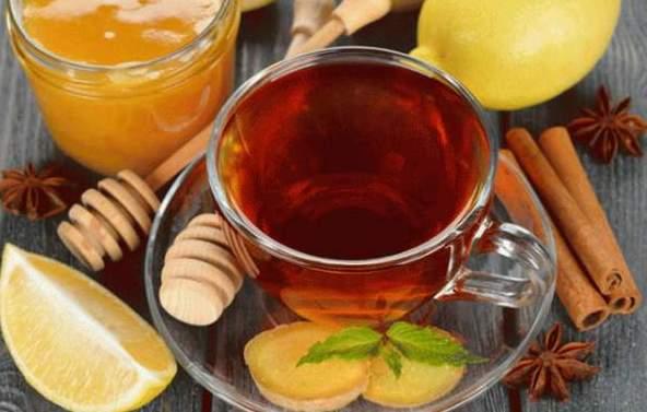 Имбирный чай с медом и лимоном для похудения